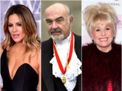 Sir Sean Connery, Dame Barbara Windsor and Caroline Flack were among the stars who died in 2020 (David Chesky/Ian West/PA)