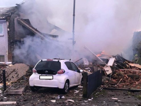 The aftermath of the explosion in Illingworth (West Yorkshire Fire & Rescue Service/PA)