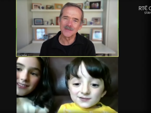 Adam King, 6, meets Commander Chris Hadfield (Late Late Show/RTE One)