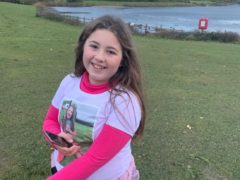 Maisie Proctor, 10, who was determined to raise funds for vet charity PDSA, despite living with the debilitating condition scoliosis (Family handout/PDSA)