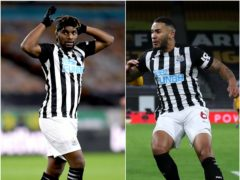 Allan Saint-Maximin, left, and Jamaal Lascelles are giving Newcastle cause for concern (Stu Forster/ Nick Potts/PA