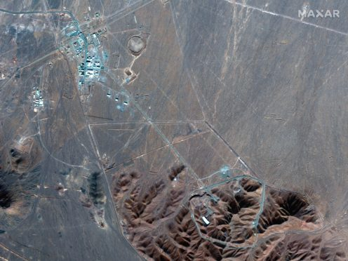 A satellite image of the site of Iran's underground Fordo nuclear site (Maxar Technologies/AP)