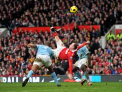 Wayne Rooney's Manchester derby stunner was one of a number of spectacular goals in his career (Martin Rickett/PA)