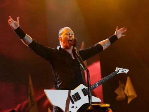 James Hetfield of Metallica at Glastonbury (Yui Mok/PA)