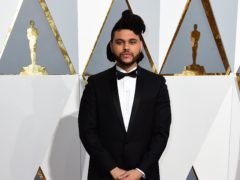 The Weeknd showed off a drastic new look in his latest music video – donning facial prosthetics for the track Save Your Tears (Ian West/PA)