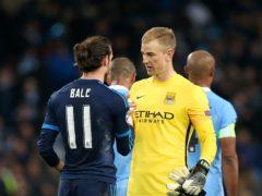 Joe Hart, right, says Tottenham team-mate Gareth Bale has a big off-field influence (Martin Rickett/PA)