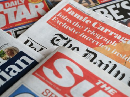 What the papers say – January 21 (Peter Byrne/PA)