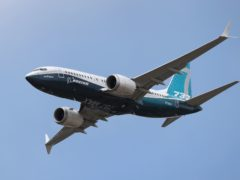 The UK has lifted its ban on the Boeing 737 Max aircraft (Andrew Matthews/PA)
