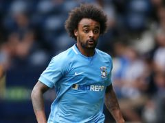 Junior Brown was sent off in Scunthorpe's loss at Barrow (Barrington Coombs/PA)