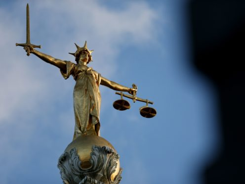 The Statue of Justice outside the Old Bailey (Jonathan Brady/PA)