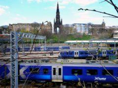ScotRail trains at Edinburgh Waverley before the pandemic (Jane Barlow/PA)