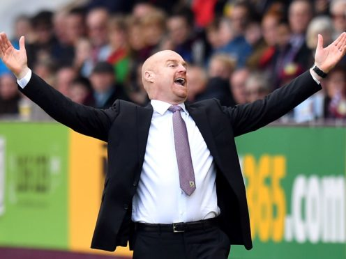 Burnley manager Sean Dyche is looking for a boost after beating Liverpool (Anthony Devlin/PA)