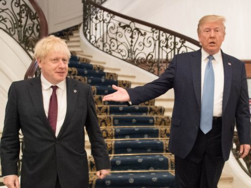 Prime Minister Boris Johnson meeting US President Donald Trump for bilateral talks during the G7 summit in Biarritz, France, in August 2019 (Stefan Rousseau/PA)