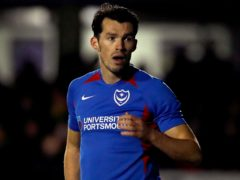 John Marquis opened the scoring for Pompey (Martin Rickett/PA)