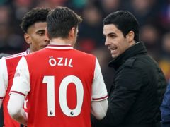 Arsenal manager Mikel Arteta does not want a repeat of Mesut Ozil's exit from the club (John Walton/PA)