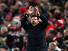 Diego Simeone's Atletico Madrid are 10 points clear of Barcelona and Real Madrid at the top of LaLiga (Peter Byrne/PA)