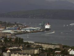 The explosion happened at Greenock's Ocean Terminal (Andrew Milligan/PA)