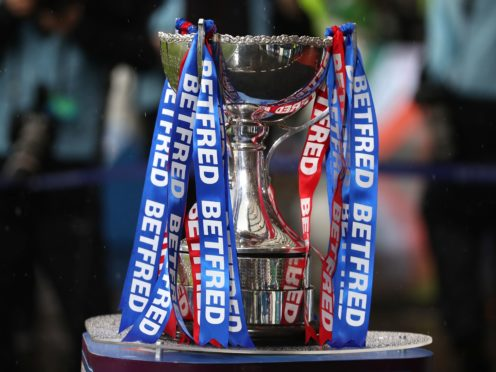 File photo dated 08-12-2019 of A general view of the Betfred trophy.