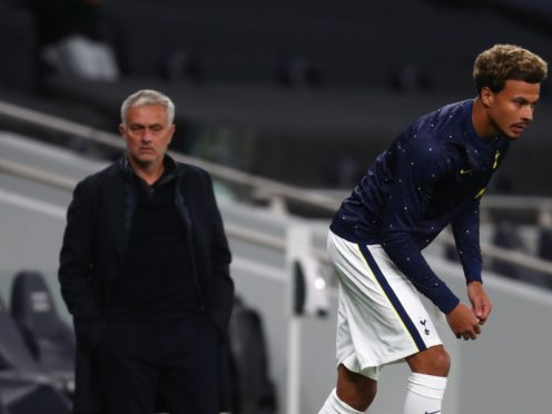 Jose Mourinho (left) did not want to discuss Dele Alli's future on Friday (Clive Rose/PA)