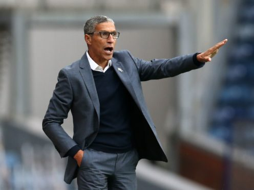 Chris Hughton could name an unchanged Nottingham Forest side for the third league game in a row (Barrington Coombs/PA)