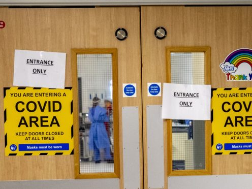 The entrance to a Covid-19 ward (PA)