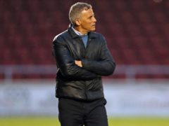 Northampton manager Keith Curle felt his side deserved to take all three points at Fleetwood (Bradley Collyer/PA)