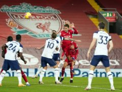 Tottenham and Liverpool last met in December, with the Reds securing a last-minute winner (John Super/PA)