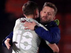 Bradford interim manager Mark Trueman (right) felt his side could have won at Cambridge (Mike Egerton/PA).