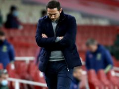 Frank Lampard appears dejected as Chelsea slip to a damaging 3-1 defeat at Arsenal on Boxing Day (Julian Finney/PA Images).