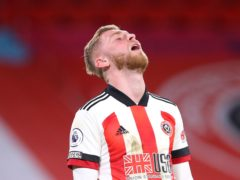 Sheffield United striker Oli McBurnie has been out for almost a month with a shoulder injury (Alex Livesey/PA)