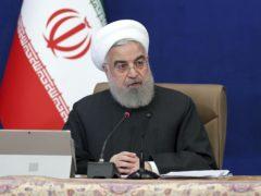 Iran's president Hassan Rouhani (Iranian Presidency Office via AP)