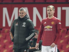 Ole Gunnar Solskjaer (left) has confirmed Donny Van De Beek will start on Saturday night (Peter Powell/PA)