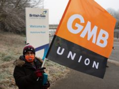 British Gas engineers on the picket line (Jacob King/PA)