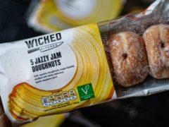 Plant-based jam doughnuts developed for Tesco (Handout/PA)