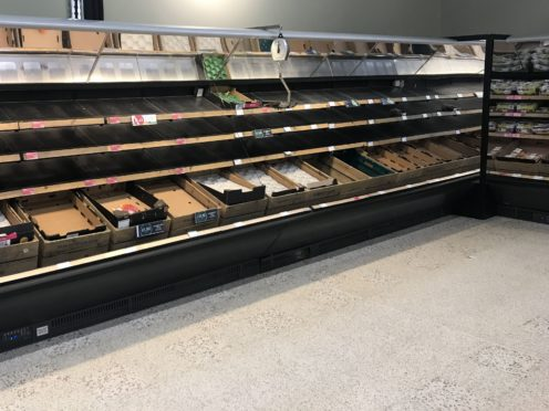 Empty shelves have been seen in Northern Ireland (PA)