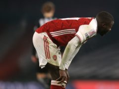 Nicolas Pepe has so far failed to justify his price tag during his 18 months at Arsenal (Adam Davy/PA)