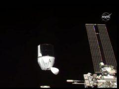 SpaceX's Dragon undocking from International Space Station (NASA via AP)