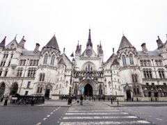 The Royal Courts of Justice in London during England's third national lockdown to curb the spread of coronavirus. (Ian West/PA)