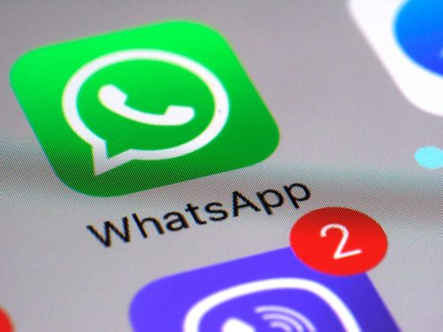 WhatsApp communications app on a smartphone (Patrick Sison/AP)
