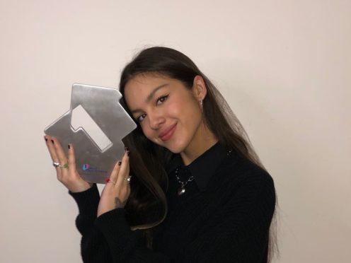 Olivia Rodrigo is heading towards a number one single (OfficialCharts.com/PA)