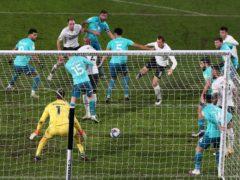 Krystian Bielik (centre right) scored the winner (Nick Potts/PA)