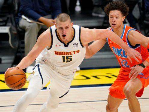 Denver Nuggets center Nikola Jokic (David Zalubowski/AP)