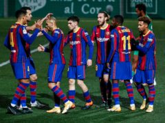 Barcelona were taken to extra-time in the Copa del Rey before squeezing through (Joan Monfort/AP)
