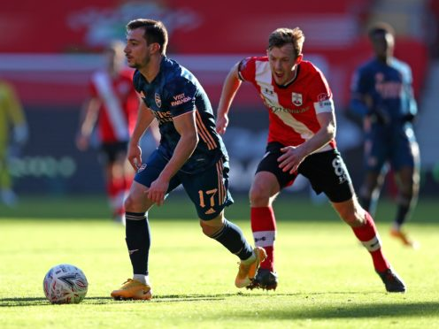 Southampton's James Ward-Prowse (right), pictured challenging Arsenal's Cedric Soares, has urged his team-mates to grab their chance for FA Cup glory this season.