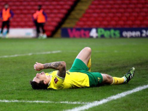 Jordan Hugill suffered a hamstring injury against Barnsley (Martin Rickett/PA)