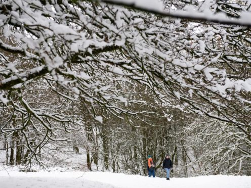 Yellow weather warnings of severe snow are in place on Thursday and Friday (Jacob King/PA)