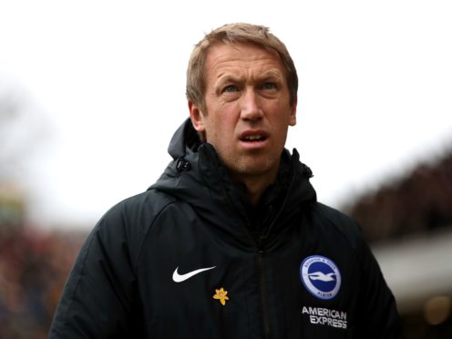 Graham Potter admits Brighton have drawn too many games (Nick Potts/PA).