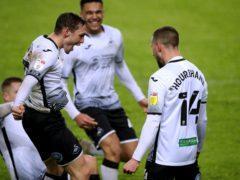 Swansea's Conor Hourihane celebrates his goal (Nick Potts/PA)