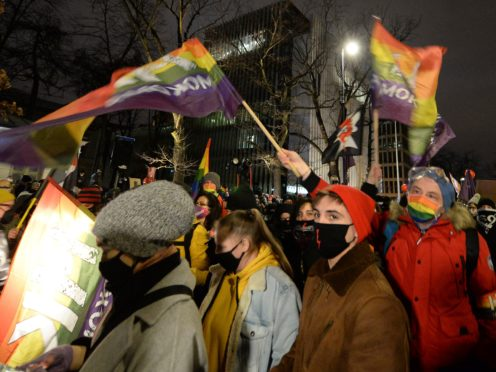 People protest against new anti-abortion laws (Czarek Sokolowski/AP)