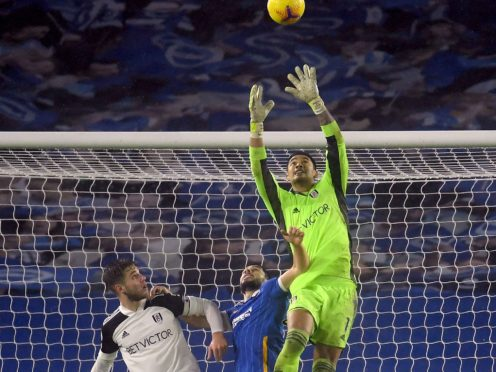 Fulham manager Scott Parker praised his goalkeeper Alphonse Areola, right, after his performance against Brighton (Mike Hewitt/PA)